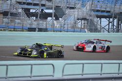 #23 MP1A Audi R8 GT3 LMS driven by Walt Bowlin, Larry Pegram, & David Ostella of M1GT Racing, #27 FP