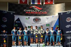 LMP2 podium: winners Andre Negrao, Gustavo Menezes, Nicolas Lapierre, Signatech Alpine, second place