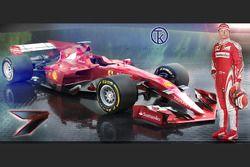 Kimi Raikkonen & 2017 Ferrari F1 Fantezi Konsept Tasarım