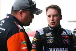 Christopher Bell, Kyle Busch Motorsports Toyota y el jefe de equipo Rudy Fugle