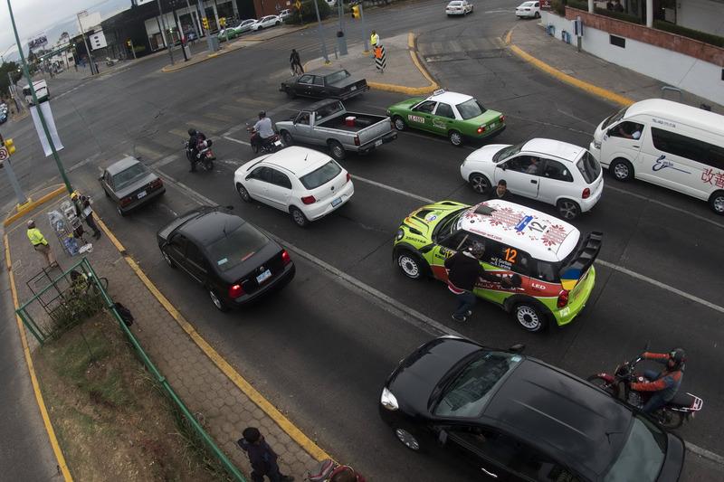 Valeriy Gorban, Sergey Larens, Eurolamp World Rally Team, BMW-Mini Countryman WRC in road traffic