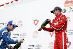 Race winner Sébastien Bourdais, Dale Coyne Racing Honda , second place Simon Pagenaud, Team Penske C