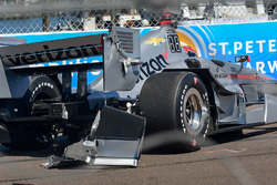 Will Power, Team Penske Chevrolet, crashed car