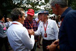 Alain Prost, Niki Lauda, Sir Jackie Stewart, et Damon Hill