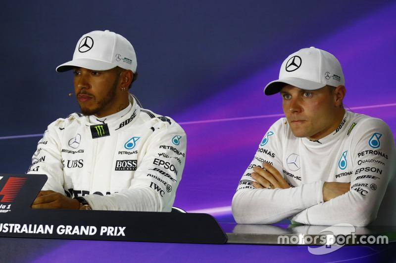 Lewis Hamilton, Mercedes AMG y Valtteri Bottas, Mercedes AMG