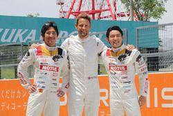 Hideki Mutoh, Jenson Button et Daisuke Nakajima