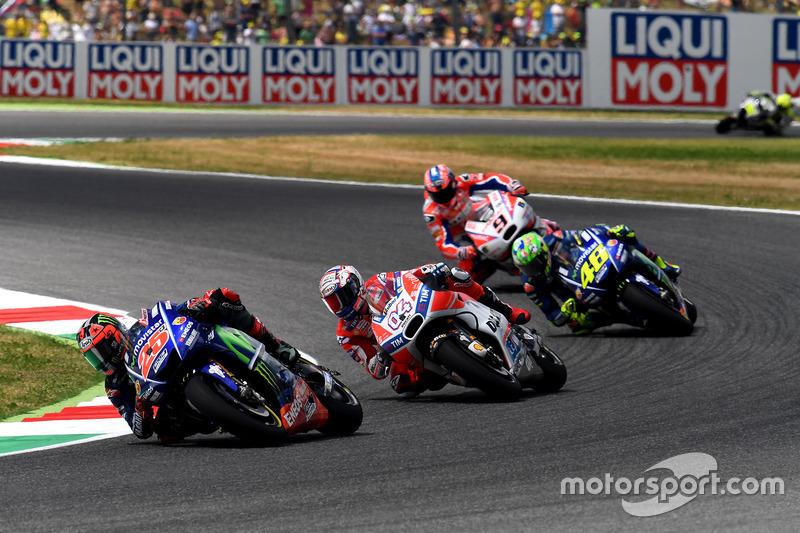 Maverick Viñales, Yamaha Factory Racing, Andrea Dovizioso, Ducati Team, Valentino Rossi, Yamaha Fact