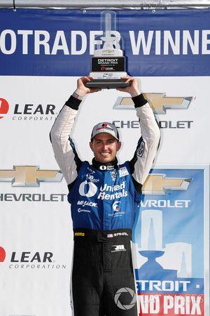 Podium : le vainqueur Graham Rahal, Rahal Letterman Lanigan Racing Honda