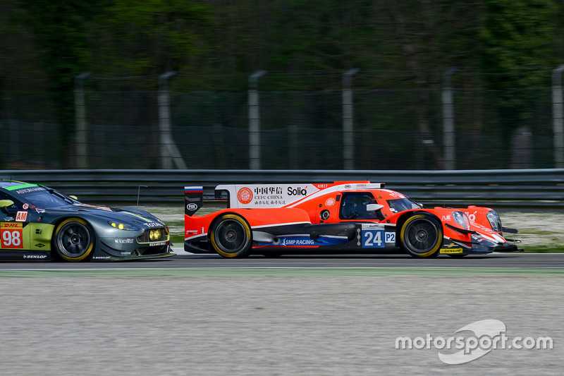 CEFC Manor Oreca 07 Gibson и Aston Martin Racing Vantage
