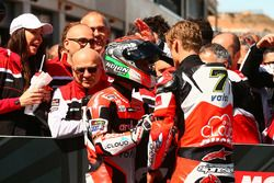 Yarış galibi Chaz Davies, Ducati Team, 3. Marco Melandri, Ducati Team