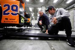 Fernando Alonso, Andretti Autosport, Honda; mit Gil de Ferran