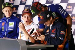 Valentino Rossi, Yamaha Factory Racing, Marc Márquez, Repsol Honda Team, Maverick Viñales, Yamaha Factory Racing, Dani Pedrosa, Repsol Honda Team