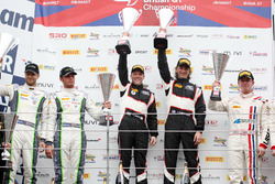 Rick Parfitt Jr., Seb Morris, Team Parker Racing Bentley Continental GT3 and Duncan Cameron, Matt Griffin Spirit of Race Ferrari 488