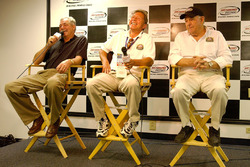 Former NASCAR Busch Series drivers Tommy Houston, Chuck Brown and Jack Ingram speak during a press c