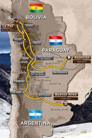 The 2017 Dakar route