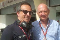 Tancredi Pagiaro, team principal Lazarus, e Ron Dennis, presidente McLaren International