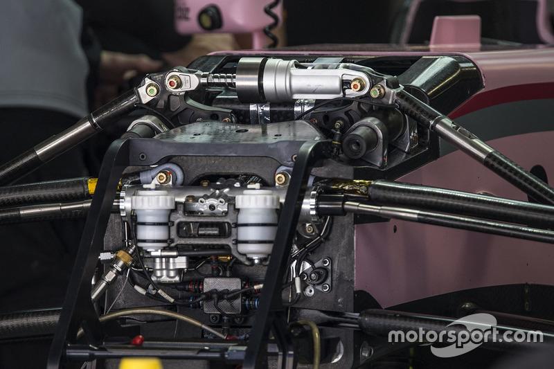 Детали передней подвески Force India VJM10