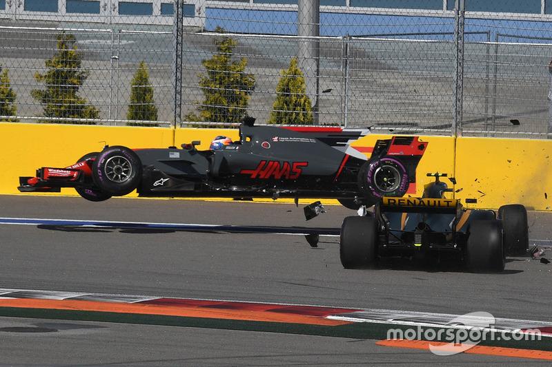 Romain Grosjean y Jolyon Palmer