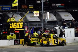 Cody Coughlin, ThorSport Racing Toyota make a pit stop