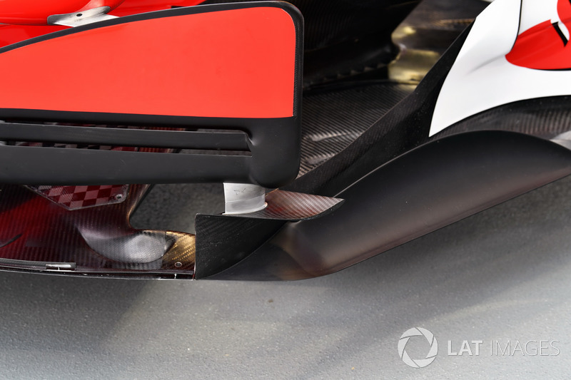 Ferrari SF70H barge board detail