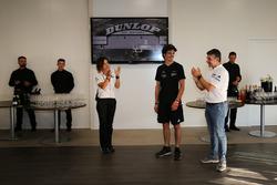 Valentina Albanese, Alessio Rovera, alla elebrazione della vittoria ella 24 Ore di Le Mans