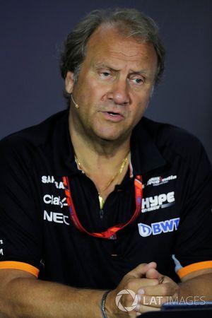 Bob Fernley, directeur adjoint Force India, lors de la conférence de presse