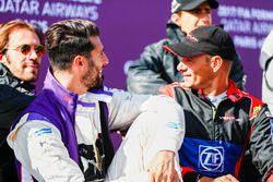 Jean-Eric Vergne, Techeetah; Jose Maria Lopez, DS Virgin Racing; Stéphane Sarrazin, Venturi