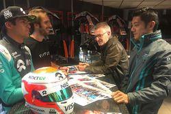 Nelson Piquet Jr., NEXTEV TCR Formula E Team; Ho-Pin Tung, Jaguar Racing; Jean-Eric Vergne, Techeeta