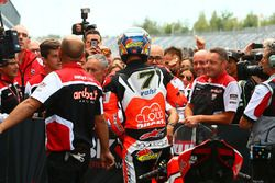 Le vainqueur Chaz Davies, Ducati Team