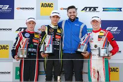 Podium: winner Lando Norris, Carlin, second place Joel Eriksson, Motopark, third place Maximilian Gü
