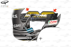 Renault R.S.17 rear wing, captioned