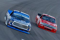 Christopher Bell, Kyle Busch Motorsports Toyota and Austin Self, Faith Motorsprots Chevrolet