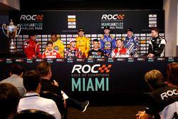 Press Conference with Sebastian Vettel, Travis Pastrana, Pascal Wehrlein, Tom Kristensen, Gabby Chav