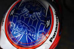 Helmet of Mitch Evans, Jaguar Racing