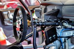 Détail du volant d'une Citroën C3 WRC, Citroën World Rally Team