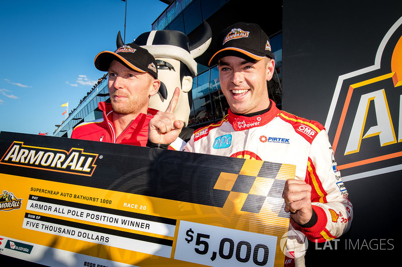 Pole sitters Scott McLaughlin, Team Penske Ford, Alexandre Prémat, Team Penske Ford