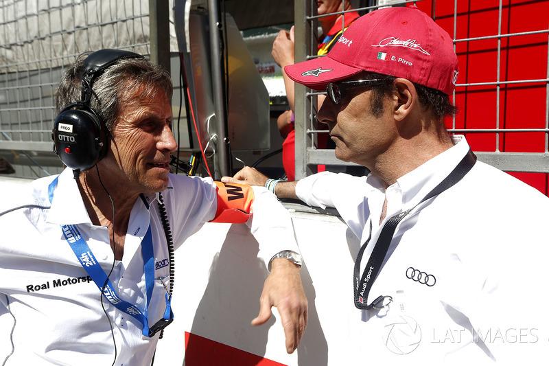 Roberto Ravaglia, Team manager team ROAL Motorsport and Emanuele Pirro