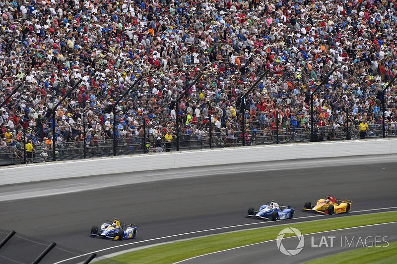 Alexander Rossi, Herta - Andretti Autosport Honda, Takuma Sato, Andretti Autosport Honda, Ryan Hunter-Reay, Andretti Autosport Honda