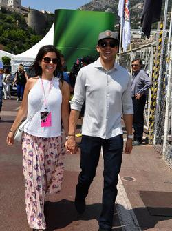 Pastor Maldonado mit Ehefrau Gabriella Tarkany