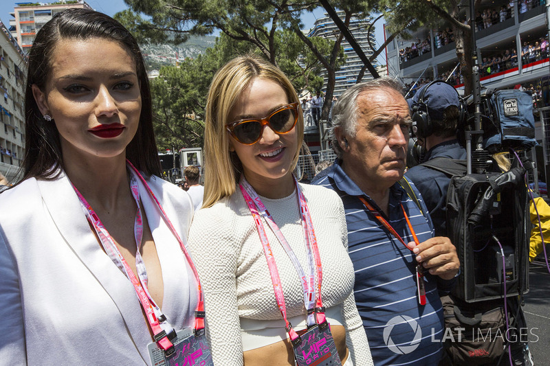 Adriana Lima, Model, Carmen Jorda, Renault Sport F1 Team Development Driver and Giorgio Piola