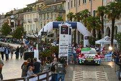 Partenza: Marco Signor, Monica Cicognini, Ford Fiesta WRC, Sama Racing
