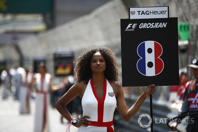 Grid Girl for Romain Grosjean, Haas F1 Team