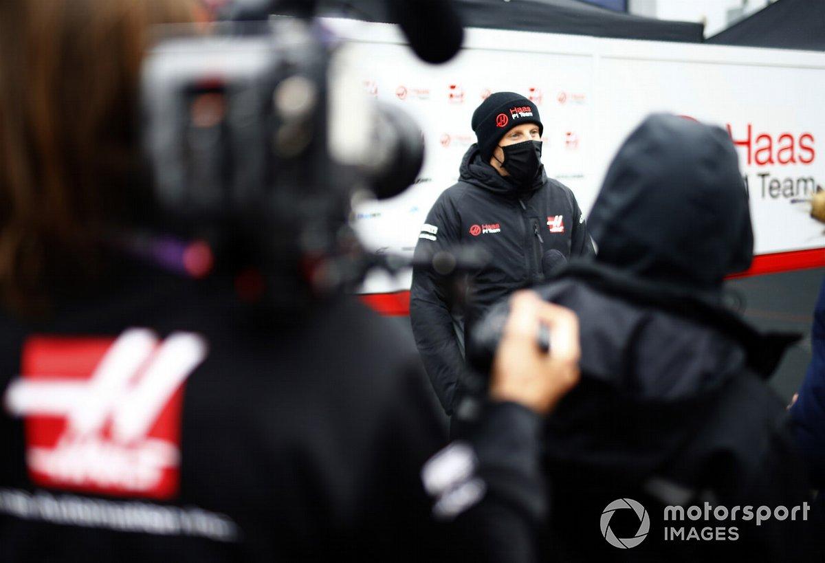 Romain Grosjean, Haas F1 nel paddock