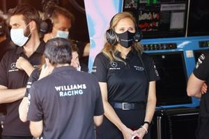 Stephanie Dattilo in the Williams garage