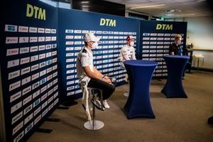 Press Conference, Sheldon van der Linde, BMW Team RBM, Mike Rockenfeller, Audi Sport Team Phoenix, Fabio Scherer, Audi Sport Team WRT