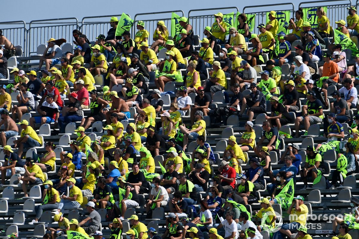 Fan alla gara del GP di San Marino