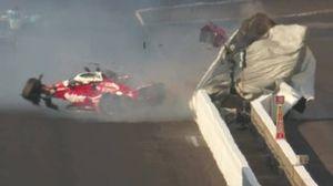 Crash van Spencer Pigot, Rahal Letterman Lanigan Racing