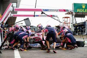 Sergio Perez, Racing Point RP20, prove di pitstop