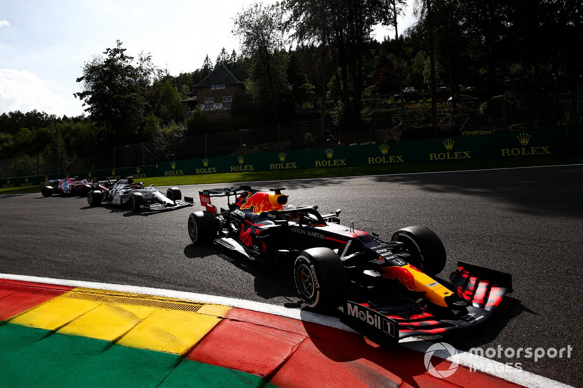 Max Verstappen, Red Bull Racing RB16, Pierre Gasly, AlphaTauri AT01, Lance Stroll, Racing Point RP20