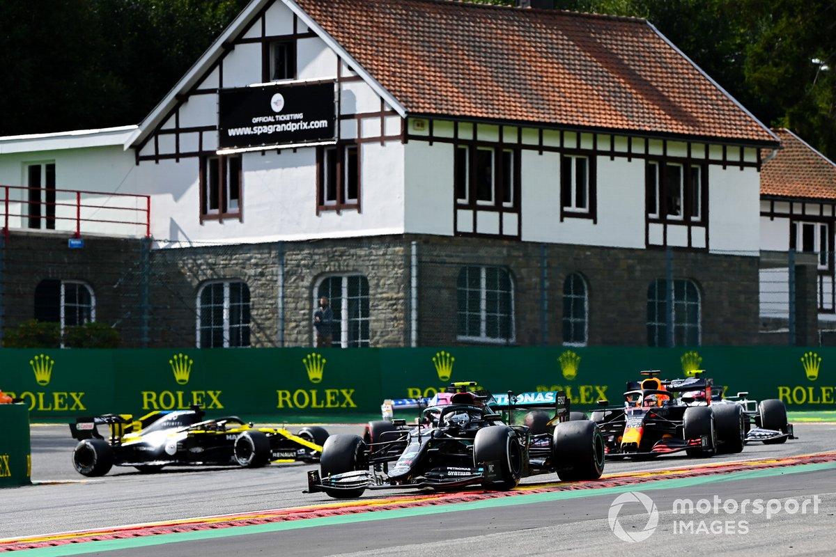 Valtteri Bottas, Mercedes F1 W11, Max Verstappen, Red Bull Racing RB16, Pierre Gasly, AlphaTauri AT01, Daniel Ricciardo, Renault F1 Team R.S.20